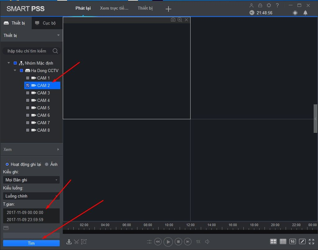 Hướng dẫn cách Backup dữ liệu từ đầu ghi camera Dahua qua phần mềm smartPss